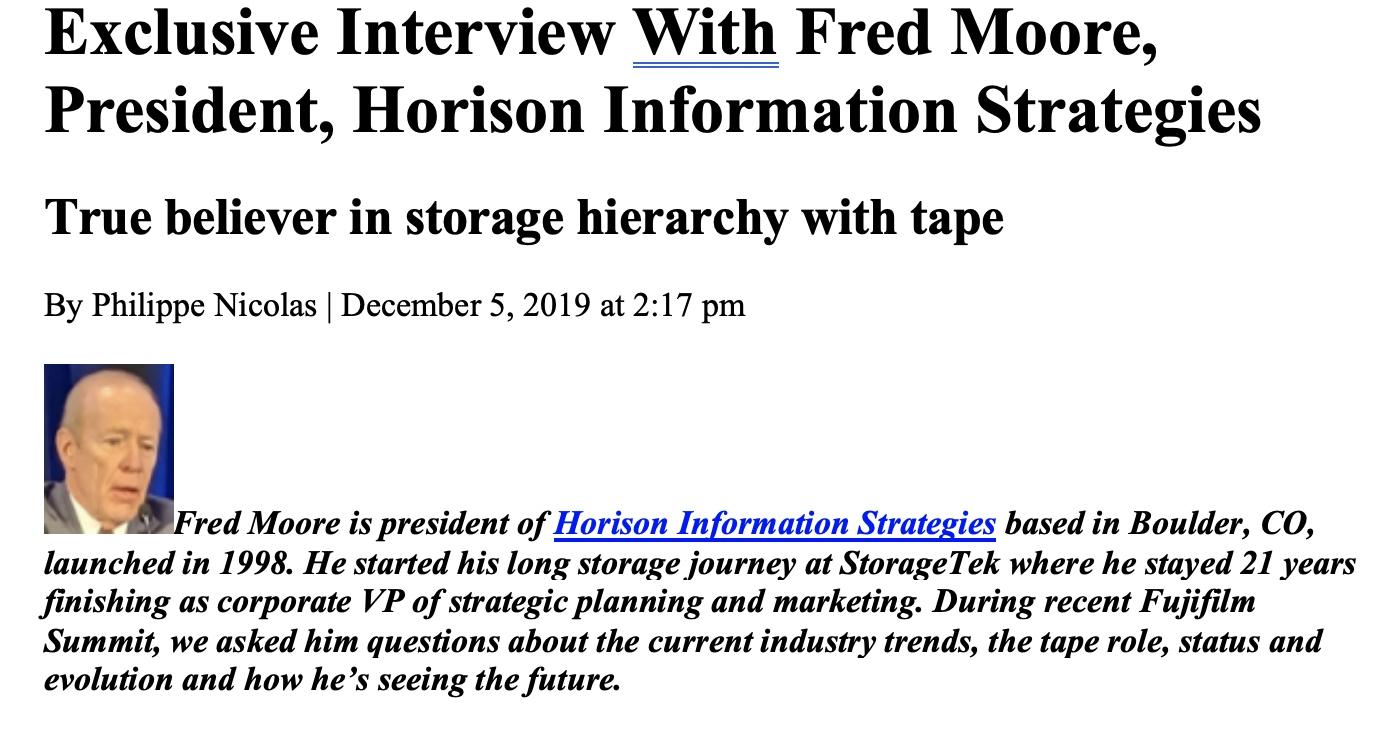 Storage Newsletter Exclusive Interview