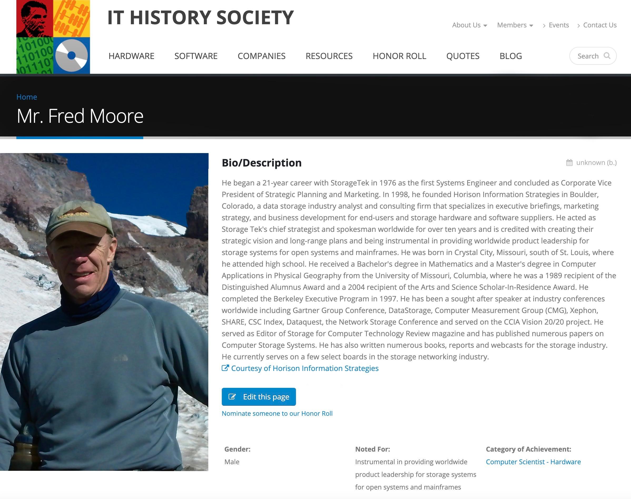 IT History Society Honor Roll